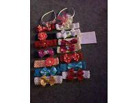 Various handmade bobbles, slides, hair bands