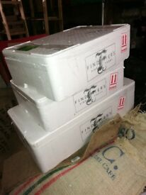 Free: Polystyrene insulated catering boxes. Various sizes