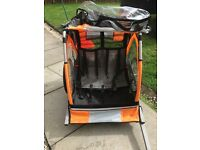 Double buggy bike trailer