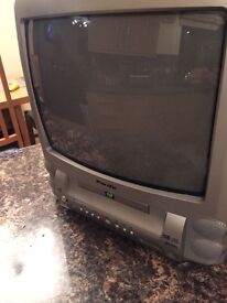 "14"" tv with built in DVD player"