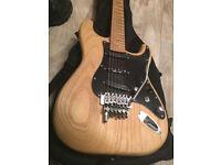 Siggery Custom SuperStrat - Raw Swamp Ash/Birdseye Maple EVH profile/Floyd Rose Ibanez Suhr Guitar