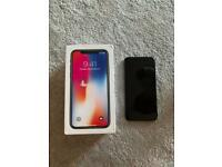 iPhone X 64GB unlocked with box