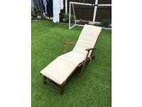 Wooden Garden recliners