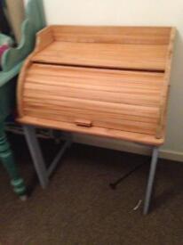 Child's Roll Top Desk/Bureau Solid Wood