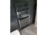 Premium towel radiator warmer rail square chrome. Better bathrooms rrp £129.99