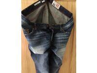 Vintage wash effect Mens Denim Jeans