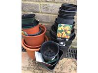 Plastic plant pots various sizes