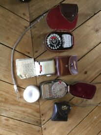Light meters. Weston master V, Weston master 111, Sixon
