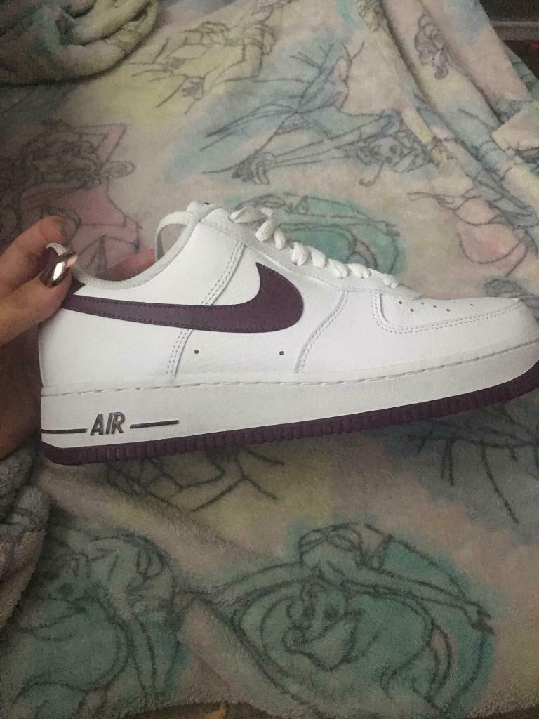 huge selection of 1244e 3b1b3 Women's Nike Air Force 1, white/burgundy size 7 | in Swansea | Gumtree