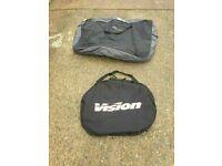 VISION Padded Travel Double Wheel and Avenir padded bike transport bag flight