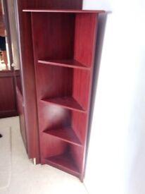 Mahogany Corner Display Unit Cupboard Stand 4 Shelves Display Cabinet Storage