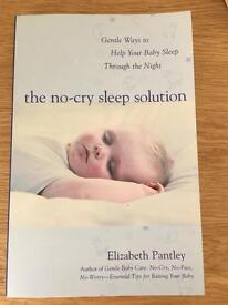 'No Cry Sleep Solution' Baby Sleep Book by Elizabeth Pantley RRP £13.99