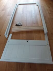 White wooden Next single bed