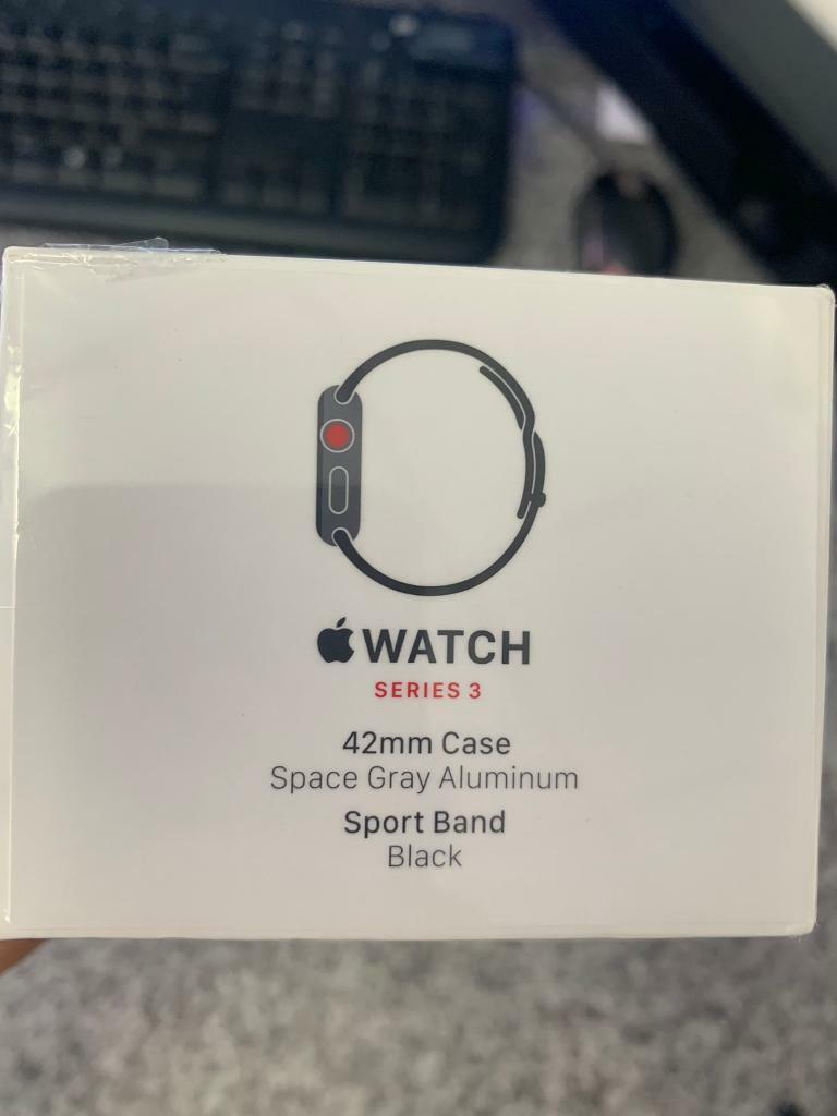 los angeles 4830b 8eea9 Apple Watch Series 3 42mm Space Grey Aluminium Case with Black Sport Band  (GPS +CEL) | in Stoke-on-Trent, Staffordshire | Gumtree