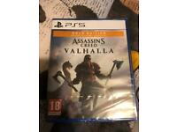 PS5 game NEW Assassins Creed Valhalla.