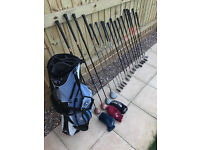 Golf club collection with Mizuno carry bag