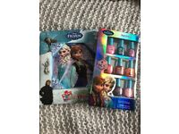 Disney Frozen Book, My First Puzzle Book & Kids Nail Varnish Pack, used for sale  Bonnyrigg, Midlothian