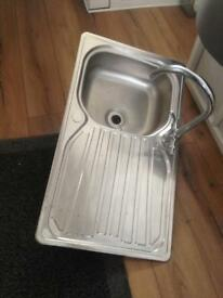 Sink an mixer tap (good condition) stainless steel