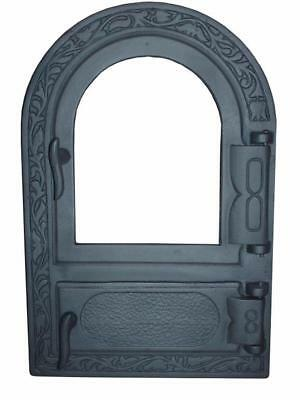 Cast Iron Fire Door Clay Bread Oven Pizza Stove Fireplace Grey (PY) 50 x 33