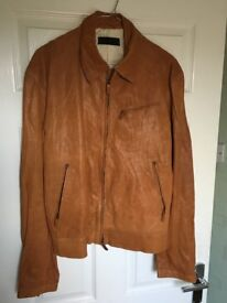 Mens Genuine Nicole Farhi Leather Jacket For Sale
