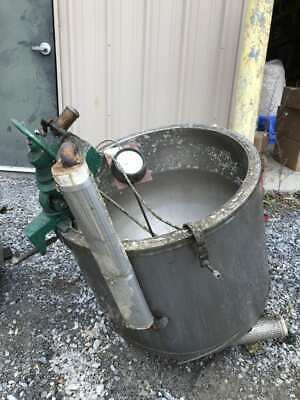30 Gallon Stainless Jacketed Mixing Tank W Lightnin Air Drive Agitatormixer