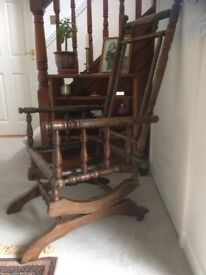 Antique Static Rocking Chair Frame