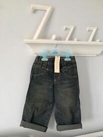 BNWT DEBENHAMS John Rocha AGE 3 Boys Jeans WITH POCKET LOGO BADGE RRP £19
