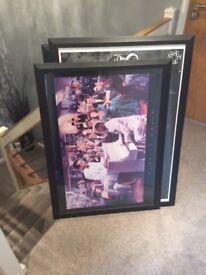 Poster frames ... 5 of them , black frames