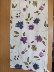 Short, lined curtains. Very good condition