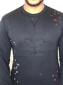Dsquared paint splatter jumpers with logo print