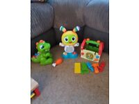 Fisher Price Bright Beats and Dance Beat Boo and other toys