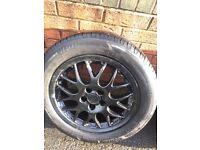 BBS 5x100 Black Alloys wheels set from GOLF MK4 full set. all legal tyres.