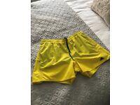 Adidas Yellow Swim Shorts, size L - £10