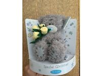 Brand new, Me to You Bear Teddy, Tatty Teddy, holding 6 yellow roses on green stems, 5""