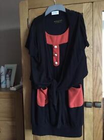 Dress and cardigan