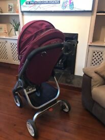 Stokke pushchair with raincover, mosquito set & cup holder