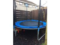 Trampoline with enclosed net & ladder