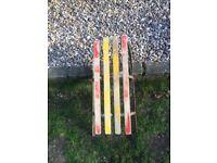 True vintage wooden traditional sledge Original colours USSR