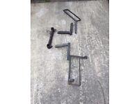 Trials bike rack for towbar attachment