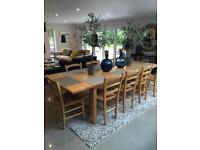 Large table and 10 chairs