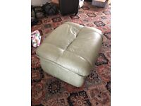 GREEN SOFA FOOT STOOL EXTRA SEAT FOR FREE