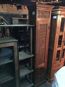 Armoire Tiroir Rangement Bois Teck sculpté -Indonésie // Handcarved Teak Wood Cabinet Drawers -Indonesia