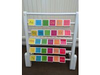 Hamleys wooden alphabet/picture abacus