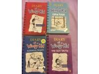 4 X Diary of a wimpy kid books