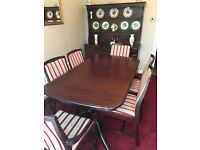 Stag Minstrel double pedestal table and six chairs