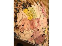 Baby girl set TINY BABY/Newborn 19 items