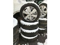Toyota Yaris 2010 14 INCH ALLOY WHEELS 4 STUD 155/65R14 TYRES SET OF FOUR