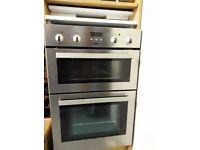 Lightly used Zanussi ZDF 290 built-in electric double oven and grill.