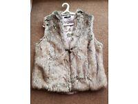 Fake Fur Gilet Size 16