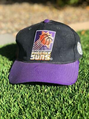 VTG 90s Faded Black/Purple Starter Phoenix Suns WOOL Snapback NBA Hat Cap